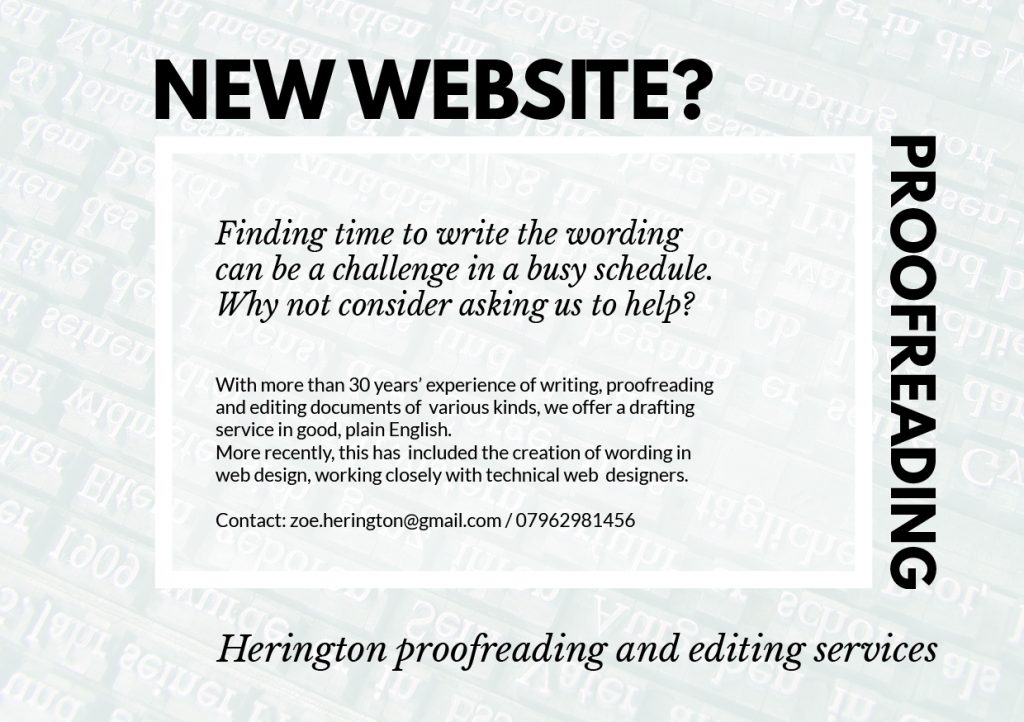 Proof reading for websites
